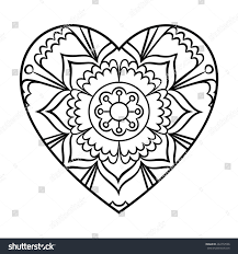 heart mandala coloring page free coloring pages