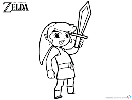 Zelda Twilight Princess Coloring Pages The Legend Of Coloring Pages
