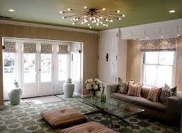love how so many different patterns created such a cohesive look great statement light for low ceiling more ceiling living room lights l69 lights
