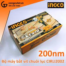 Bộ máy bắt vít chuôi lục 2 pin 20V 200Nm Ingco CIRLI2002