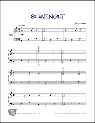 sheet music silent night silent night gruber easy piano sheet music digital print