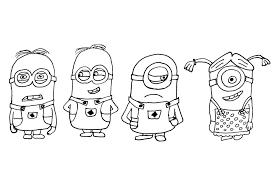 Exclusif Minions Coloriage Minions Coloriages Pour Enfants