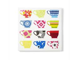 DIY Kitchen Art How-to: Napkin Teacups on Canvas