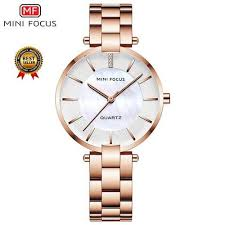 Shop <b>Mini Focus MINI FOCUS</b> Women's <b>Rose Gold</b> Wrist Watches ...