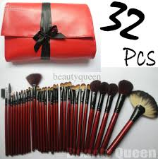 professional makeup brushes cosmetic set high quality goat hair red bag leather pouch case new makeup brush set professional makeup cosmetic brushes set