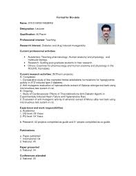 How To Write Biodata Research Paper Samples Bio Image Result For Biodata In