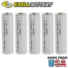 3 2 V Solar Light Batteries Details About 5x Exell Lifepo4 3 2v 500mah Size Aa 14500 Rechargeable Solar Battery Usa Ship