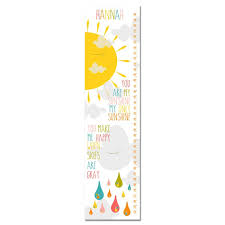 You Are My Sunshine Sun And Cloud Personalized Growth Chart