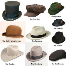 Hat Styles Men And Women Hats For Men Types Of Mens Hats