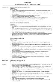 Development Director Resume Samples Velvet Jobs