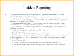 How To Write An Incident Report Letter Reporting Accident Sample