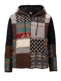 men s patchwork fleece lined jacket