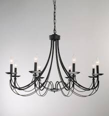 the gray barn calloway hill iron 8 light black chandelier dining room lamp bulb