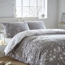 galaxy thermal flannelette reversible duvet cover set grey hover to zoom