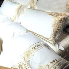 white champagne french embroidery duvet cover set 30 offwhite and gold bedding sets king