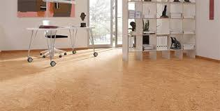 cork flooring laid in office room