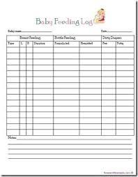 Baby Feeding Log Free Printable Infant Feeding Best