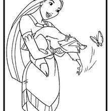 Small Picture Pocahontas by the river coloring pages Hellokidscom