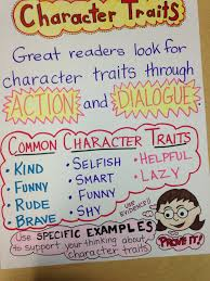 Character Traits Anchor Chart Reading Common Core Third Grade Character Traits Anchor