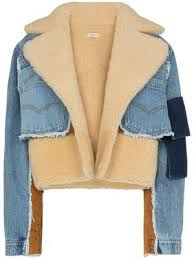 shearling lined denim <b>jacket</b>