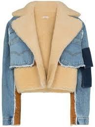 shearling lined denim <b>jacket</b>