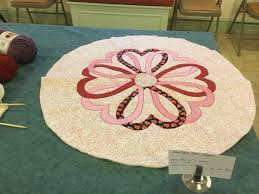 applique table topper make a lovely 28 inch round table topper with a heart pattern that is just in time for valentine s day reg fee 14 00 tuesday