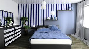 excellent blue bedroom white furniture pictures. Bold Is Best In Pattern Excellent Blue Bedroom White Furniture Pictures