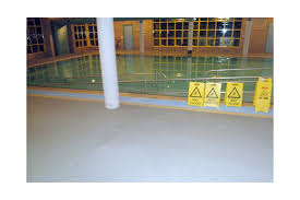 hydrotherapy pool surround at retirement village speckle coated