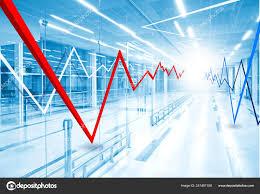 Stock Market Graph And Bar Chart Stock Photo Slay19