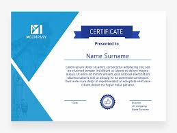 Certificate Template Photoshop Certificate Template Free Psd Template Psd Repo