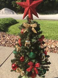 Cemetery Christmas Tree With Lights Cemetery Christmas Tree Grave Decoration Artificial Tree
