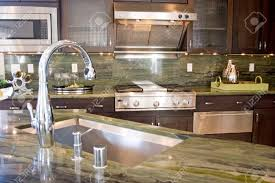 Kitchen Tops Granite Modern Kitchen With Granite Countertops Stock Photo Picture And