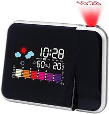 lcd led projection calendar weather station temperature alarm clock
