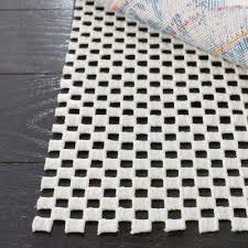 grid white 2 ft x 14 ft non slip rug runner rug pad