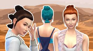 Rey Hair Style my sims 4 blog reys hairstyle for females by kiara24 5771 by wearticles.com