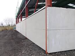 prestressed corner wall panels installed on face of rsj s moore concrete