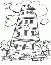 Small Picture The Stylish And Stunning Tower Of Babel Coloring Page With Regard
