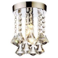 flush mount modern mini crystal chandelier