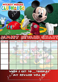 18 True To Life Mickey Mouse Sticker Chart