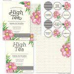 Tea Invitations Printable High Tea Invitations Free Printable Free Blank Tea Party Printable