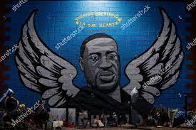 General view mural George Floyd Houston ...