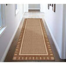 jardin collection contemporary bordered design brown 3 ft x 7 ft outdoor runner rug