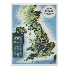 How To Design Your Own Map Great Britain Vintage Map Poster Custom Posters Design