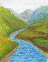 original oil pastel painting on paper