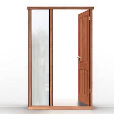exterior door frame kits. external lpd universal hardwood door frame shown with single side aperture exterior kits