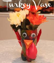 Thanksgiving Craft For Kids Thanksgiving Craft For Kids Turkey Vase Centerpiece