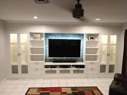Lighted Entertainment Center How To Diy An Affordable Ikea Entertainment Wall Ikea Hackers