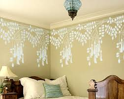 leaf wall stencil black locust flowers border stencil leaf stencil wallpaper with wainscoting