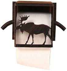 Amazoncom Coast Lamp Iron Moose Toilet Paper Box Home Kitchen