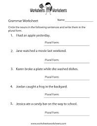 5Th Grade Grammar Printable Worksheets Worksheets for all ...